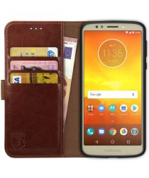 Rosso Element Motorola Moto E5 Hoesje Book Cover Bruin