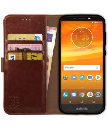 Rosso Element Motorola Moto E5 Plus Hoesje Book Cover Bruin