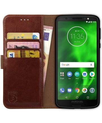 Rosso Element Motorola Moto G6 Hoesje Book Cover Bruin