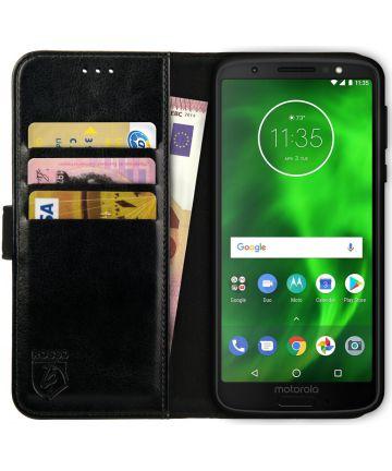 Rosso Element Motorola Moto G6 Play Hoesje Book Cover Zwart Hoesjes
