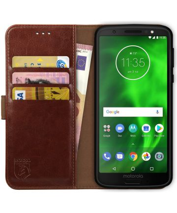 Rosso Element Motorola Moto G6 Play Hoesje Book Cover Bruin