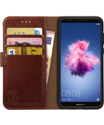 Rosso Element Huawei P Smart Hoesje Book Cover Bruin