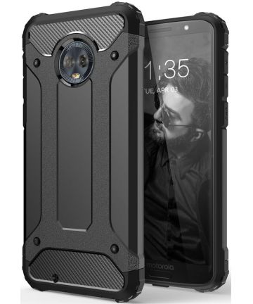 Motorola Moto G6 Hybride Hoesje Zwart Hoesjes