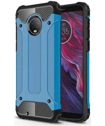 Motorola Moto G6 Hybride Hoesje Blauw