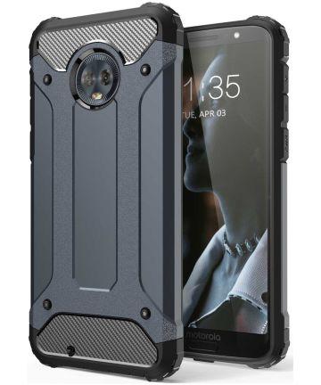 Motorola Moto G6 Hybride Hoesje Donker Blauw Hoesjes