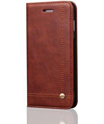 Samsung Galaxy S9 Vintage Portemonnee Hoesje Bruin