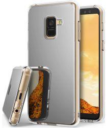 Ringke Fusion Mirror Samsung Galaxy A8 2018 Hoesje Zilver