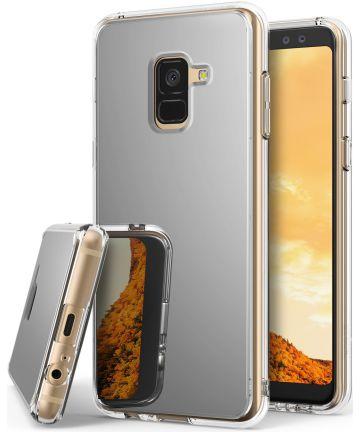 Ringke Fusion Mirror Samsung Galaxy A8 2018 Hoesje Zilver Hoesjes