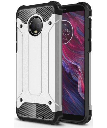 Motorola Moto G6 Plus Hybride Hoesje Zilver Hoesjes