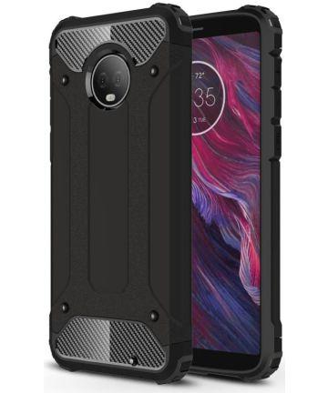 Motorola Moto G6 Plus Hybride Hoesje Zwart Hoesjes