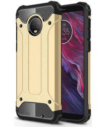 Motorola Moto G6 Plus Hybride Hoesje Goud