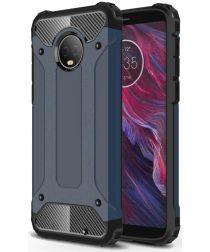 Motorola Moto G6 Plus Hybride Hoesje Blauw