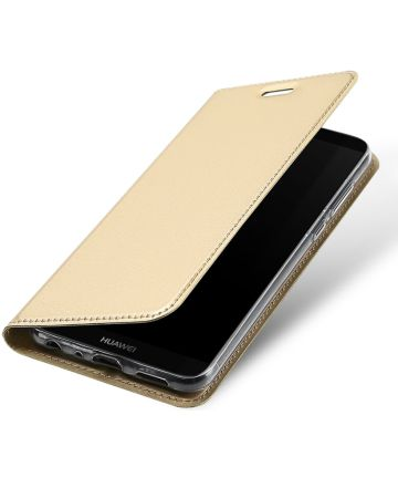 Dux Ducis Skin Pro Series Book Case Huawei P Smart Hoesje Goud