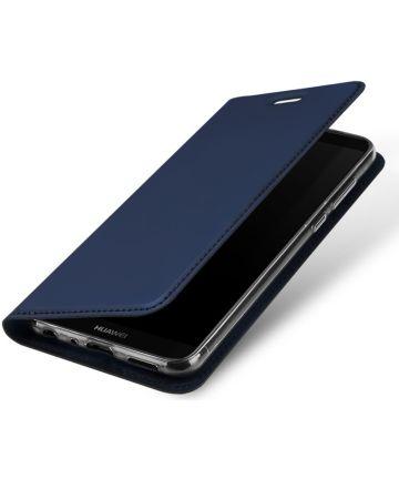 Dux Ducis Premium Book Case Huawei P Smart Hoesje Blauw