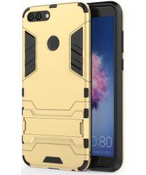 Huawei P Smart Hybride Stand Hoesje Goud
