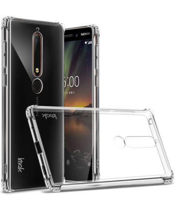 IMAK Nokia 6 (2018) Hoesje Schokbestendig en Flexibel TPU Transparant