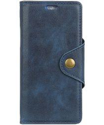 Nokia 6 (2018) Wallet Stand Hoesje Blauw