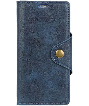 Nokia 6 (2018) Wallet Stand Hoesje Blauw Hoesjes