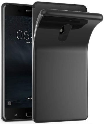 Nokia 6 (2018) TPU Hoesje Zwart