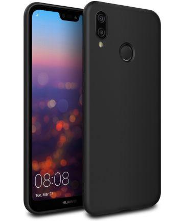 Huawei P20 Lite TPU Hoesje Zwart Hoesjes