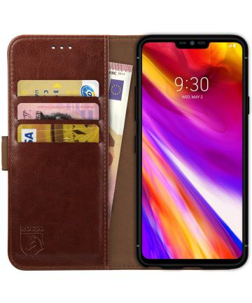 Rosso Element LG G7 Hoesje Book Cover Bruin Hoesjes