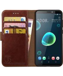 Rosso Element HTC Desire 12 Plus Hoesje Book Cover Bruin