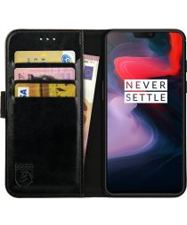 Rosso Element OnePlus 6 Hoesje Book Cover Zwart