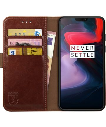 Rosso Element OnePlus 6 Hoesje Book Cover Bruin