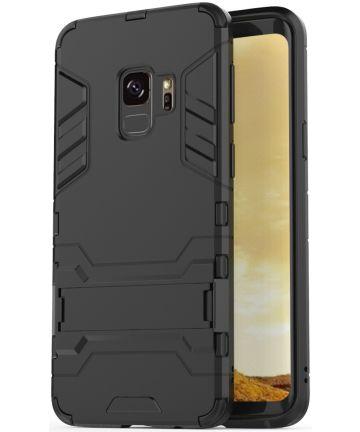 Hybride Samsung Galaxy S9 Hoesje Zwart Hoesjes