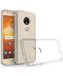 Motorola Moto E5 Hoesje met Bumper Transparant