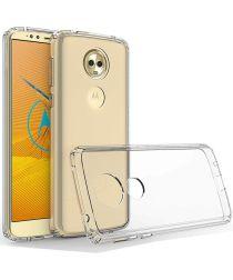 Motorola Moto E5 Plus Hoesje met Bumper Transparant