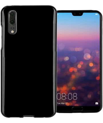 Huawei P20 Hoesje met Bumper Zwart
