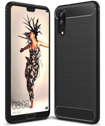 Huawei P20 Geborsteld TPU Hoesje Zwart