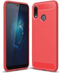 Huawei P20 Lite Geborsteld TPU Hoesje Rood
