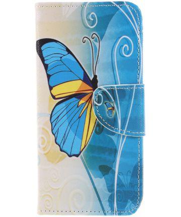 Huawei P Smart Portemonee Hoesje met Vlinder Print Hoesjes