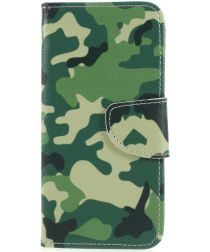 Huawei P Smart Portemonee Hoesje met Camouflage Print