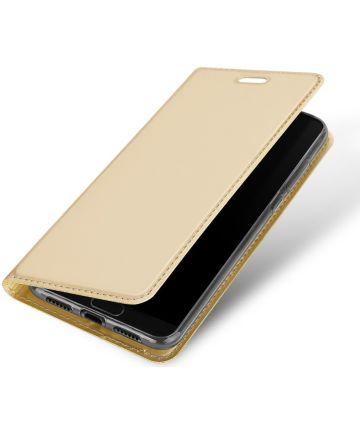 Dux Ducis Huawei P20 Bookcase Hoesje Goud Hoesjes