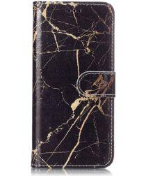 Samsung Galaxy S9 Portemonnee Hoesje Goud Marmer Print
