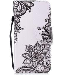 Huawei P Smart Portemonnee Hoesje met Bloem Print