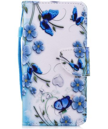 Huawei P Smart Portemonnee Hoesje met Vlinder Print