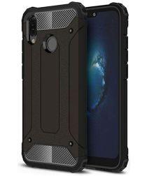 Huawei P20 Lite Hybride Hoesje Zwart