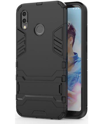 Huawei P20 Lite Hybride Hoesje met Standaard Zwart