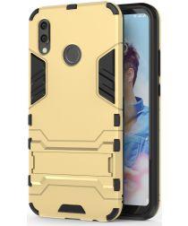 Huawei P20 Lite Hybride Hoesje met Standaard Goud