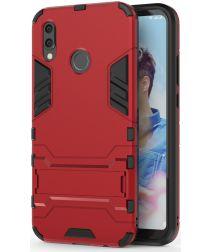 Huawei P20 Lite Hybride Hoesje met Standaard Rood