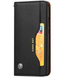 Huawei P20 Lite Luxe Portemonnee Hoesje Zwart