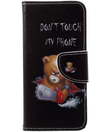 Huawei P20 Lite Portemonnee Hoesje met Print Teddy