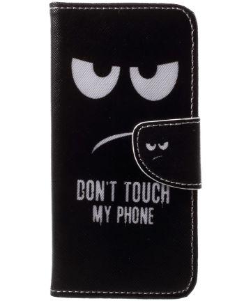Huawei P20 Lite Portemonnee Hoesje met Print Don't Touch My Phone