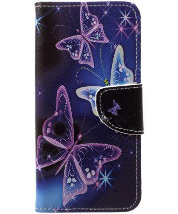 Huawei P20 Lite Portemonnee Hoesje met Print Vlinders