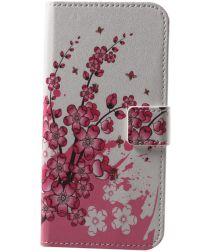 Huawei P20 Lite Portemonnee Hoesje met Print Blossom