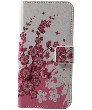 Huawei P20 Lite Portemonnee Hoesje met Print Blossom Hoesjes